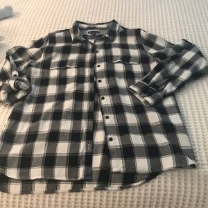 Gap Buffalo Plaid Boyfriend Fit Shirt M